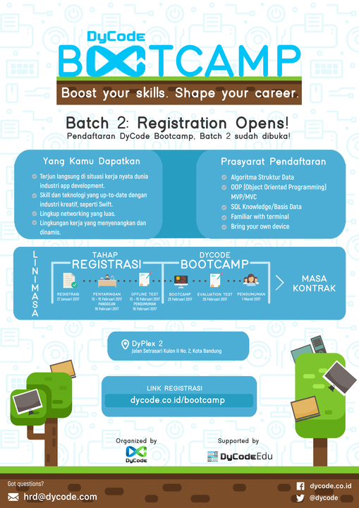 DyCode Bootcamp, Batch 2 Promotional E-Flyer